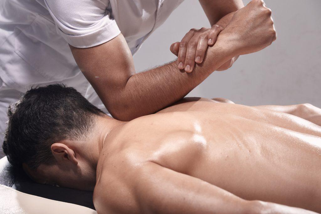 Man receiving a Remedial Massage Caulfield